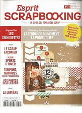 ESPRIT SCRAPBOOKING N°31 SCRAP FACON BD / SPORTS D'HIVER / TAMPONS, MATRICES