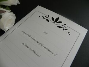 Formal Leaves DIY Invitations Wedding - Engagement - Event - Party - 25 Pack