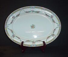 ANTIQUE MINTON ENGLAND LARGE OVAL SERVING PLATTER 17""