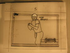 1991 Topps Jim Kelly Bills Artist Drawing Match Print
