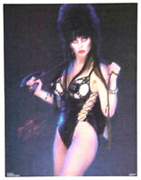"Vintage Elvira Poster- Elvira in Leather ""Yours Cruelly"" Poster-Original 17""x22"""