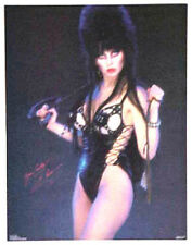 "Vintage Elvira Poster- Elvira in Leather ""Yours Cruely"" Poster-Original 17""x22"""