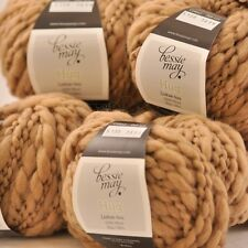 5 x 50g Balls: BULKY FANCY 100% Pure Wool ~ Bessie May HUG, in Brown of 'Oat'