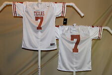 TEXAS LONGHORNS   Nike #7  FOOTBALL JERSEY  Youth Large  $44 retail   NwT  wht
