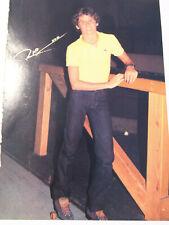VTG 80s' PINUP John Schneider + Unknown Man Roller Skating Teen Magazine 1 PAGE