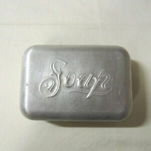 Vintage Aluminum Hinged Soap Box