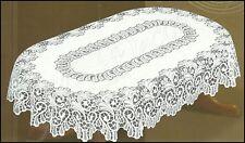 "Oval, lace, white Tablecloth NEW 51"" x 71"" (130x180cm) elegant present"