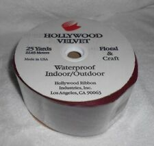 Hollywood Velvet Burgundy Ribbon  25 yds x 2 5/8 inch Flora Craft Waterproof New