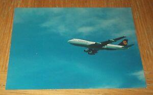 Lufthansa Boeing 747-200 branded postcard MINT CONDITION
