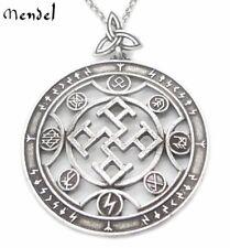 MENDEL Norse Pendant Necklace Viking Antique Runes Amulet Thunder God Talisman