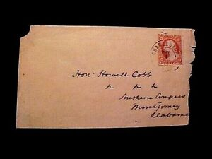 Confederate COVER  w/US Stamp Used in CSA! to Howell Cobb Montgomery May 4, 1861