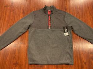'47 Brand Mens Philadelphia Phillies 1/4 Zip Fleece Jacket Large L MLB MSRP 110