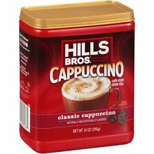( 6 Pack ) Hills Bros Cappuccino Classic Instant Flavored Coffee Drink 14 Oz