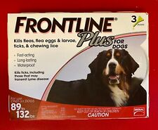 New listing Frontline Plus for Extra Large Dogs 89-132 lbs - 3 month - Genuine Epa Approved!
