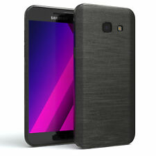 Schutz Hülle für Samsung Galaxy A5 (2017) Brushed Cover Handy Case Anthrazit