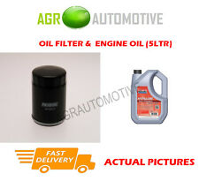 PETROL OIL FILTER + FS 5W40 ENGINE OIL FOR MAZDA 121 1.3 60 BHP 1996-02