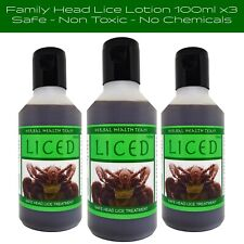 No chemicals - head lice treatment for adults & children 3 bottles 100ml £25.99