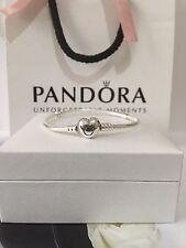 💕Genuine 19cm Pandora Silver Moments Heart Clasp Bracelet 590719 RRP £55