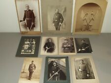 Antique Lot of 10 Victorian U.S. Military and Fraternal Masonic Portrait Photos