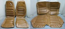 70 Mustang Coupe Full Set Bucket Back Seat Cover Upholstery Reproduction Ginger
