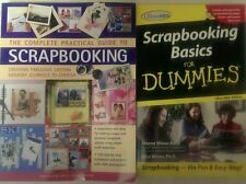 2 Books,Complete Practical Guide to Scrapbooking&Scrapbooking Basics For Dummies