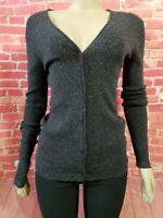 Alexander Wang wool blended Women's cardigan Sweater Sz S  Black Buttons down(B7