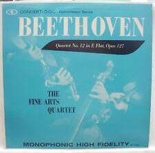 BEETHOVEN QUARTET No. 12 E FLAT OPUS 127 THE FINE ARTS QUARTET LP  MINT