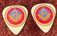 Freemason Masonic Compass and Square Guitar Picks. Lot of 2 Heavy Gauge.
