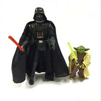 "3.75"" Star Wars 2005 Darth Vader Revenge Of The Sith ROTS & Yoda figure Boy Toy"