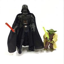 Star Wars 2005 Darth Vader Revenge Of The Sith ROTS & Yoda Hasbro Movie figure