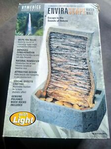Vintage 1999 Homedics Envirascape WATER WALL W/LIGHT NEW IN OPEN BOX