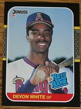 DEVON WHITE 1987 Donruss  baseball card #38 (rookie).....mint