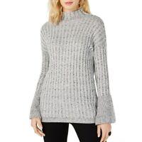 INC NEW Women's Marled Bell Sleeve Mock Neck Sweater Top TEDO