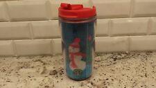 Starbucks Mug Travel Tumbler 8 oz Hologram Christmas Snowman 2004 EUC