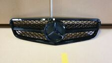 W204 C Class C180 C200 C250 C350 Sport grille grill AMG Style Black Gloss