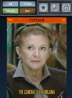 Star Wars Card Trader Topps Digital Vintage Series 4 W3 The General, Leia O.