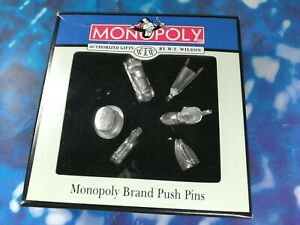 MONOPOLY Brand Push Pins W.T. Wilson Authorized Gifts Monopoly Push Pin Set