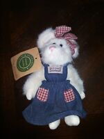 "Boyds Bears Cottage McNibble 7"" PLUSH Mouse 1999 Retired"