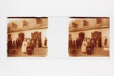 Photo Mariage Famille Plaque Stereo Positive Vintage PL33L14P2