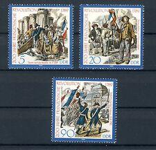 1989 DDR Satz postfrisch Mi.-Nr. 3258-3260, 200. Jahrest. Franz. Revolution