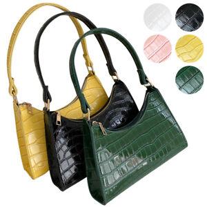 Baguette Bag Women Shoulder Underarm Clutch Tote Purse Elegant Pattern Handbags