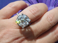 Old Mine Cut center Brand New 5.20 ct Moissanite Engeagement Ring 10.5mm