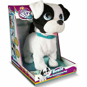 Bowie Real Kissing Puppy Dog Interactive Toy Barking Sounds Talking Moving - NEW