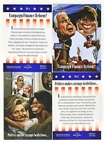 Benchwarmer Political 2 Card Set Hillary Clinton Barack Obama McCain Palin