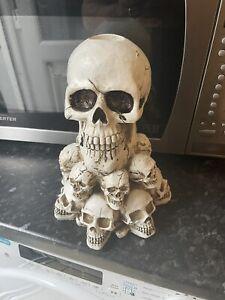 Large Skull Head on Skull Pile Rubber Latex Mould mold Tea Light Holder Gothic