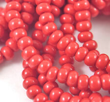 "Czech Glass Seed Beads Size 6/0 "" DARK RED "" Strands"