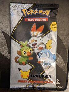 Pokemon TCG - 25th Anniversary - Train On First Partner Pack Galar Packs