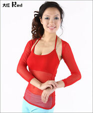 Sexy Transparent Style Belly Dance costume Yoga back strap Blouse Top 13 colors