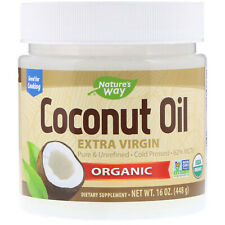 Raw Extra Virgin Coconut Oil 62% MCT'S Medium Chain Triglycerides 454g 100% PURE