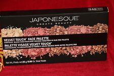 JAPONESQUE VELVET TOUCH FACE CONTOUR BLUSH HIGHLIGHT PRO PALETTE 100% AUTHENTIC